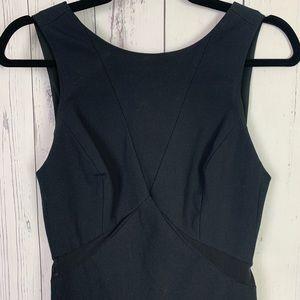 rag & bone | black body con dress | open back LBD